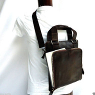 Genuine real Leather man Bag Messenger iPad Genuine Brown 2 vintage 3 retro mini