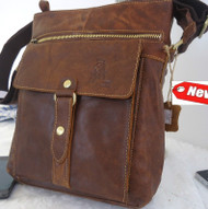 Genuine real Leather Bag Messenger iPad handbag man tote 2 3 10 ebook 11 tablet