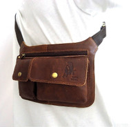 GENUINE LEATHER BAG Fanny Shoulder tablet Chest Sling Cross fit gps 7 5 4.3 case