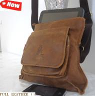 Genuine real Leather Bag Messenger Notebook handbag man woman retro 10 9 ebook R