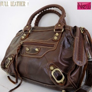 Genuine leather woman bag design brown purse Vintage tote Handbag lady Style top