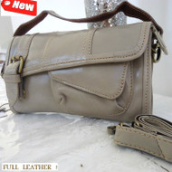 Genuine real leather woman girl purse RETRO tote Handbag Ladies wallet gray BAG