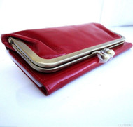 Genuine leather woman bag design purse Vintage tote clutch Handbag christmas m red Wine
