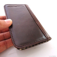 Genuine real leather black Samsung galaxy S3 SIII s 3 luxry book case cover with wallet creditcard holder flip