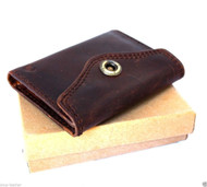 Men's Money Genuine Leather wallet Card Billfold Clip slim card Holder Purse id