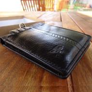 Men Money Genuine Leather wallet Grain skin Design Removable black Quality new 3