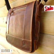 Genuine Leather man RETRO cross Shoulder Messenger BAG best vintage classic TOP