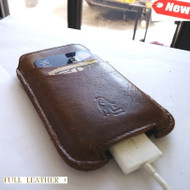 Genuine 100% real Leather Sleeve Pouch Case Brown For iPhone 3G, 3GS, 4 & 4S S u new