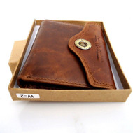 Men Money Genuine Leather wallet Billfold skin ART Special Design Money Clip R