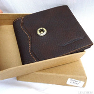 Men Genuine Leather wallet Billfold case COIN POCKET CARD id 1 Cash Slots 2 new