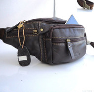 Genuine natural Leather Shoulder wallet Bag man Pocket Waist cool Pouch style id