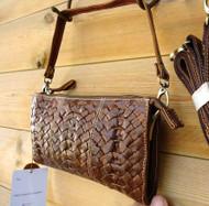 Genuine Soft leather woman purse tote Ladies wallet Clutch Desginer bag + strip
