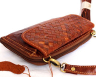 Genuine real leather woman Shoulder bag brown purse clutch Vintage tote Handbag classic