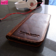 genuine natural leather Case for Samsung Galaxy S3 III s 3 book wallet stand holder 3s