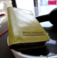 genuine natural leather case for iphone 4s cover purse pouch s 4 book wallet stand apple green