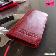 genuine real leather case for iphone 5 5s cover book wallet holder crard ID d red win handmade