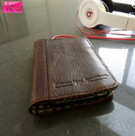 genuine natural leather case for iphone 4s cover purse pouch s 4 3G book wallet stand s4