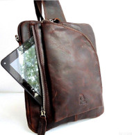 GENUINE LEATHER BAG FASHION MEN PURSE WAIST woman Messenger fit sony waio p new