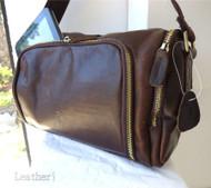 Genuine natural Leather Bag Messenger iPad handbag man retro 3 ebook 10 mini new
