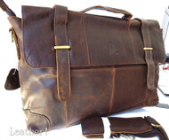 Genuine Leather Bag Messenger iPad LAPTOP 2 vintage classic 3 retro 1 Shoulder