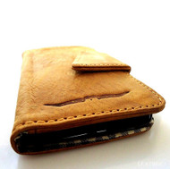genuine real leather vintage Case for HTC ONE book wallet handmade m7 skin 4g 3g