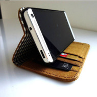 genuine real leather vintage Case for HTC ONE book wallet handmade m7 skin new g