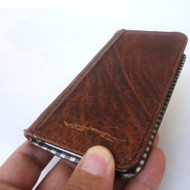 genuine real leather vintage Case for HTC ONE book wallet handmade m7 skin new 7