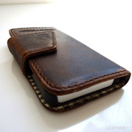 genuine leather case for iphone 5 book wallet cover new handmade retro style ip