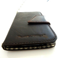 genuine vintage leather Case For Samsung Galaxy Note II 2 book wallet handmade G