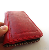 genuine NATURAL soft leather Case for sony xperia z book wallet handmade id red