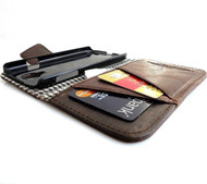 genuine leather Case for Samsung Galaxy mega 6.3 I 9200 book wallet handmade ID