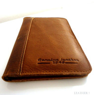 genuine full leather Case for galaxy s4 and htc butterfly s book wallet handmade