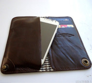 genuine leather Case For Samsung Galaxy Note III 2 book wallet handmade brown uk australia