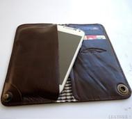 genuine leather Case For Samsung Galaxy Note III 2 book wallet handmade brown uk australia