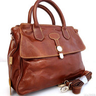 Genuine real leather woman bag brown purse tote lady retro Vintage retro style uk