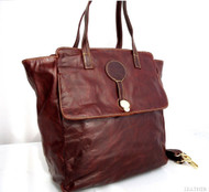 Genuine real leather woman bag brown purse tote lady retro Vintage retro large