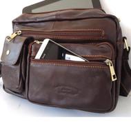 Genuine real Leather Shoulder Bag Cowhide handbag man Messenger australia russia