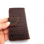 genuine vintage leather case for iphone 5 s cover s 5  book wallet stand handmade