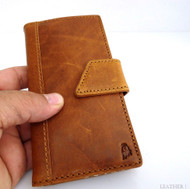 genuine vintage leather Case for htc butterfly s book wallet handmade australia