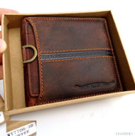 Men Money Clip Genuine vintage Leather wallet Bag Coins Removable credit ID CARD NEW