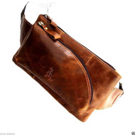 Genuine real Leather Shoulder wallet Bag man woman Pocket Waist camera Pouch brown uk