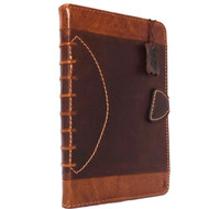 Genuine Natural Leather Handmade Case for Apple Ipad Air 2 Cover 1 Stand Luxury Credit Cards Slots sport