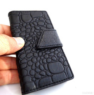genuine real natural leather Case fit Galaxy S3 SIII s 3 book wallet black hand