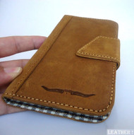 Full leather Case for Samsung Galaxy mega 6.3 I 9200 book wallet handmade ID