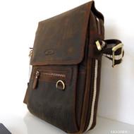 Genuine oil Vintage Leather Shoulder Bag Messenger man tablet Cowhide cross uk