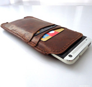 genuine leather Case for galaxy s4 s3 and htc butterfly s book wallet handmade one