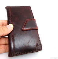 genuine full leather Case for Samsung Galaxy S4 s 4 book wallet handmade skin uk  retro