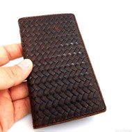 genuine natural leather case for HTC one m7 cover purse pouch book wallet stand 80's