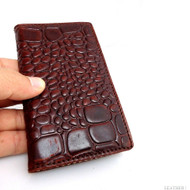 genuine full leather Case for Samsung Galaxy S4 s 4 book wallet handmade skin crocodile model