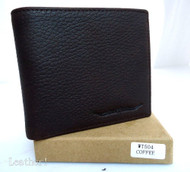 Men Money Clip Genuine retro Leather wallet id Coin Pocket Purse Pouch slim box